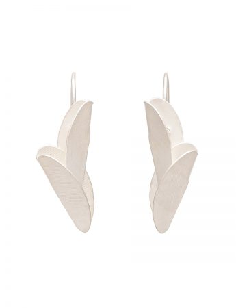 Small Bird of Paradise Earrings - Silver
