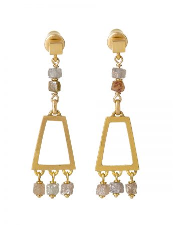 Apsara Diamond Drop Earrings
