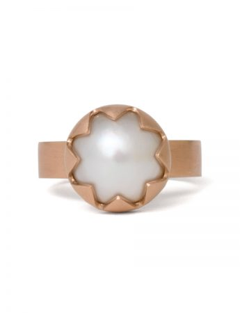 Corona Ring - Rose Gold & Pearl