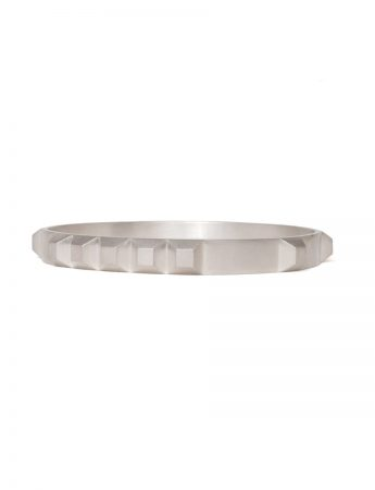 Enigma Bangle - Silver