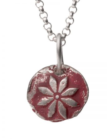 Flower Necklace – Crimson