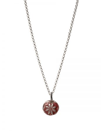 Flower Necklace - Crimson