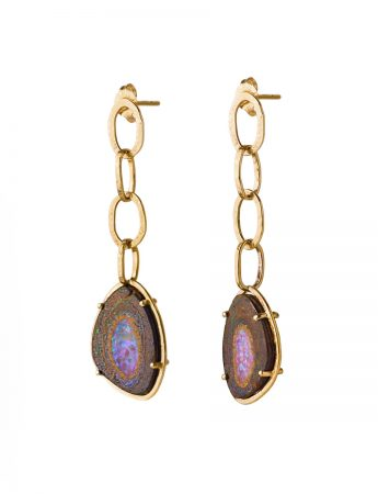 Galaxy Chain Earrings – Boulder Opal