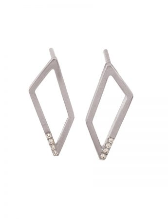 Gradient Diamond Earrings – White Gold