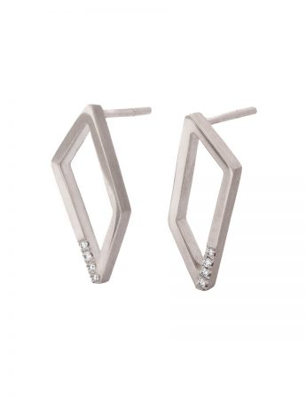Gradient Diamond Earrings - White Gold