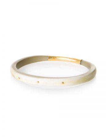 Dreamweaver Bangle - Gold Rivets