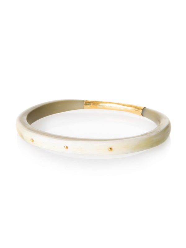 Dreamweaver Bangle – Gold Rivets
