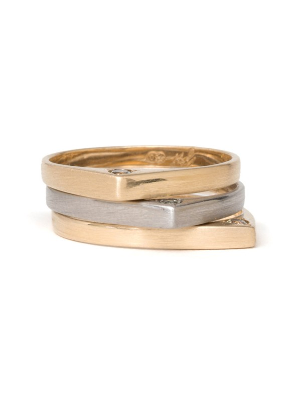 Knife Edge Stack Rings