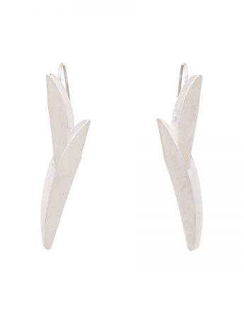 Long Bird of Paradise Earrings - Silver