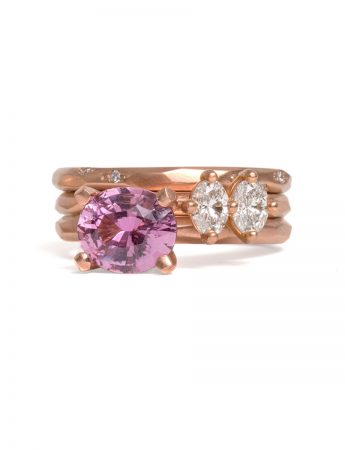 Oval Apple Blossom Ring - Pink Sapphire