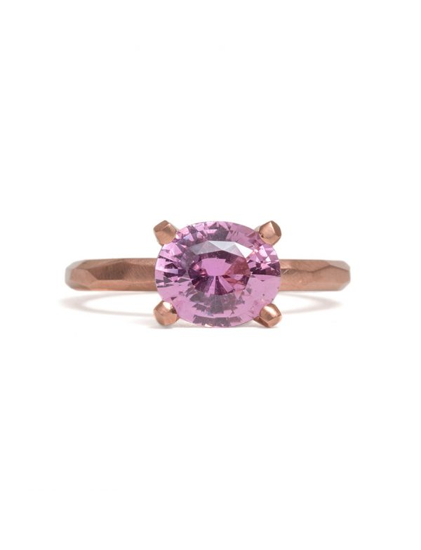 Oval Apple Blossom Ring – Pink Sapphire