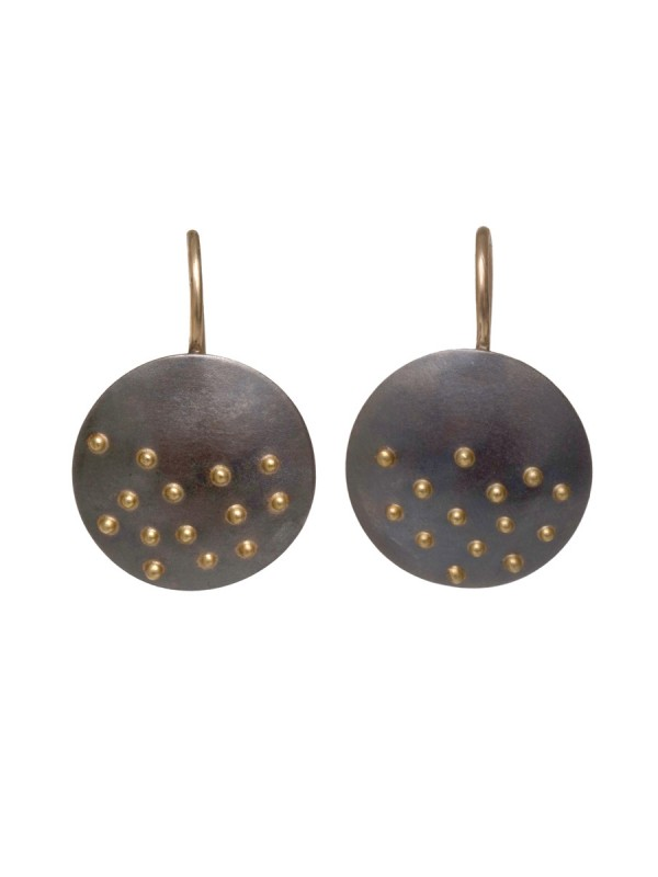 Raised Dot Small Disc Earrings