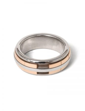 Revolver Ring - White & Rose Gold