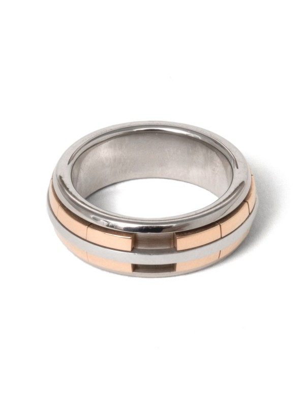 Revolver Ring – White & Rose Gold