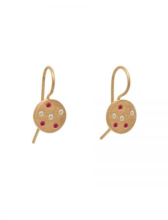 Ruby Speckled Earrings