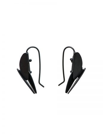 Small Bird of Paradise Earrings – Black