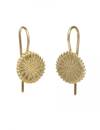 Star Hook Earrings - Yellow Gold