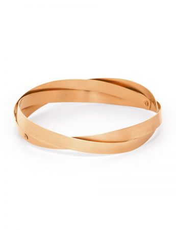 Twist Bangle - Rose Gold
