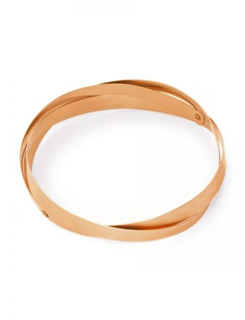 Twist Bangle – Rose Gold