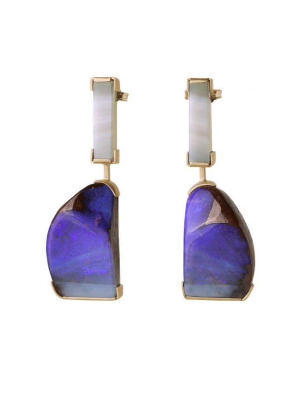 Ultraviolet Earrings – Agate & Opal