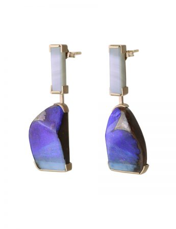 Ultraviolet Earrings - Agate & Opal