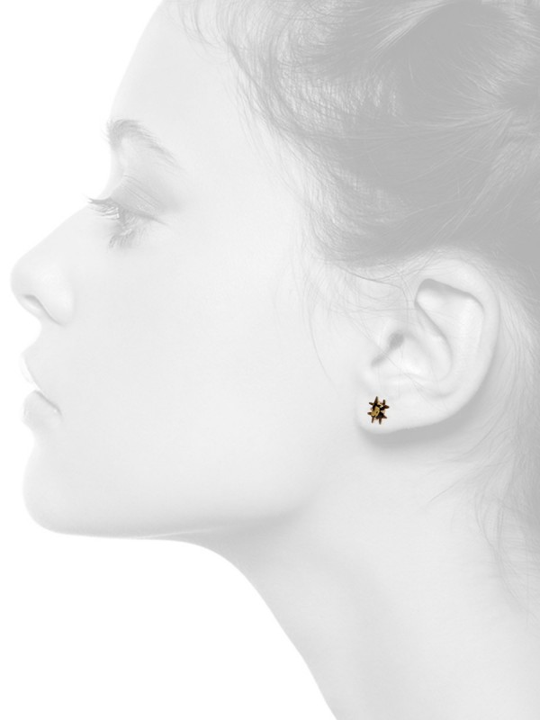 Square Golden Nights Stud Earrings – Yellow Gold