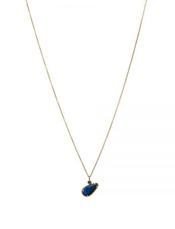 Australian Black Opal Necklace