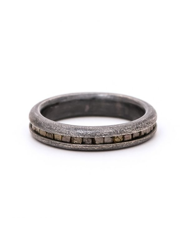 Wrapped Raw Diamond Ring – Silver