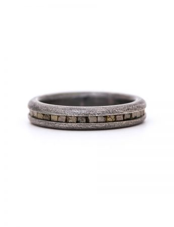 Wrapped Raw Diamond Ring - Silver