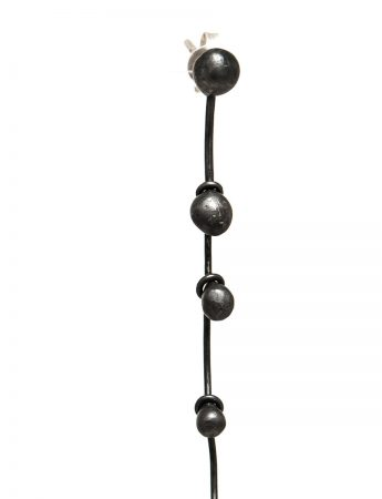 Long Gouttes Earrings - Black