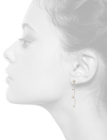 Gouttes Earrings – Bleached Silver