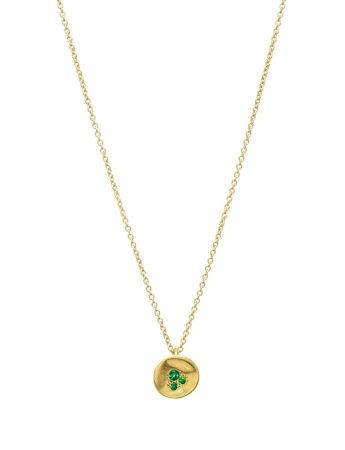 Posy Pendant Necklace - Emerald & Yellow Gold