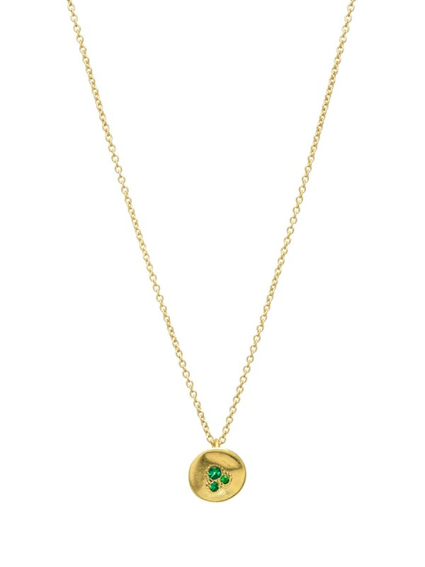 Posy Pendant Necklace – Emerald & Yellow Gold