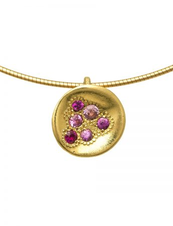 Posy Necklace - Pink Sapphire