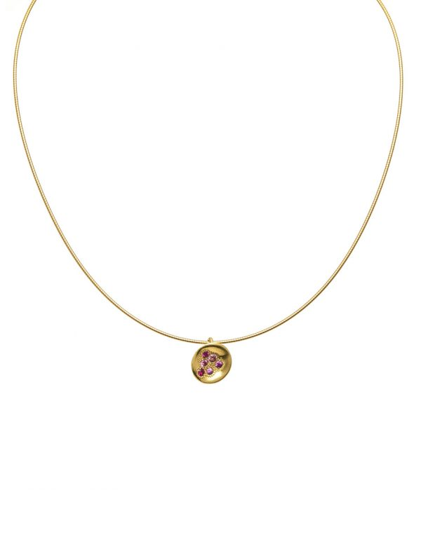 Posy Necklace – Pink Sapphire