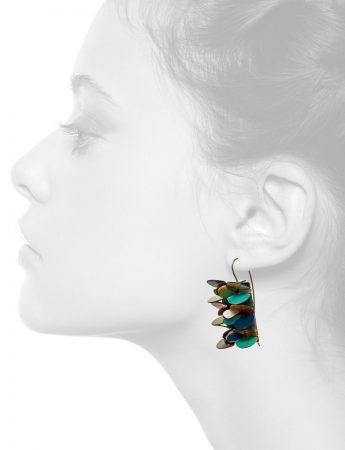 Rectangle Petal Earrings – Blue, Green, Yellow, Red