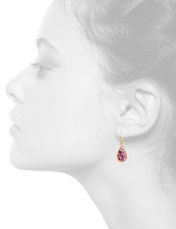 Reef Hook Earrings – Gold & Ruby