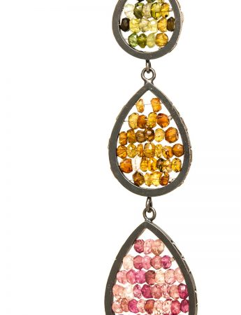 Three Tier Reef Earrings - Tourmaline