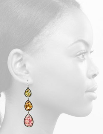 Three Tier Reef Earrings – Tourmaline