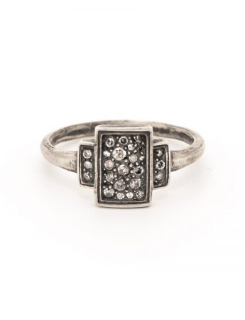 Triptych 24 Ring - Silver & Diamond