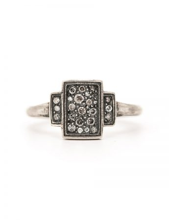 Triptych 24 Ring – Silver & Diamond