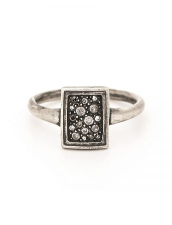 Tych 17 Ring - Silver & Diamond