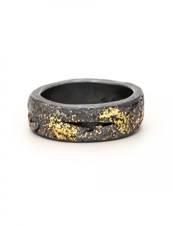Wide Organic Band - Black & Gold