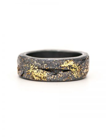 Wide Organic Band – Black & Gold