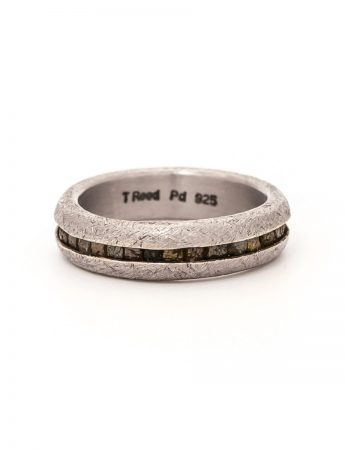 Wrapped Raw Diamond Ring - Palladium