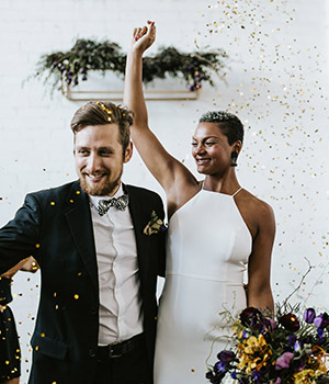 Wedding Inspiration: Glitter Industrial