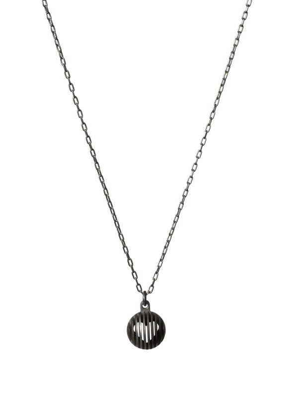 Black Secret Orb Pendant Necklace – Heart
