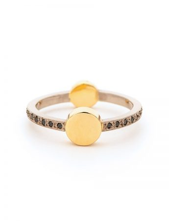 Total Eclipse Ring - Gold & Black Diamond