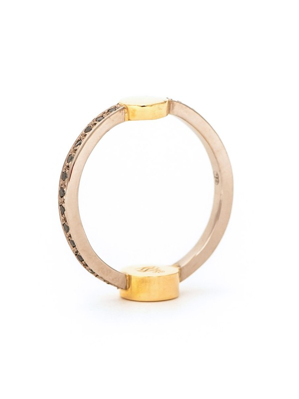 Total Eclipse Ring – Gold & Black Diamond