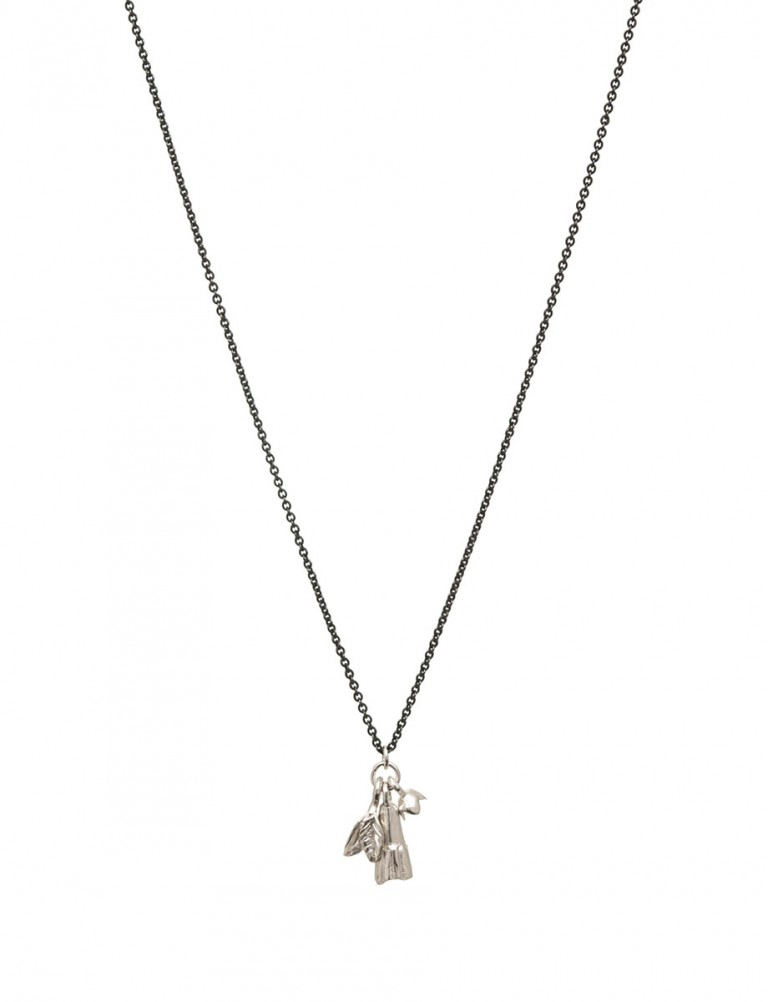 Charm Necklace – Bell, Snowdrop, Leaf